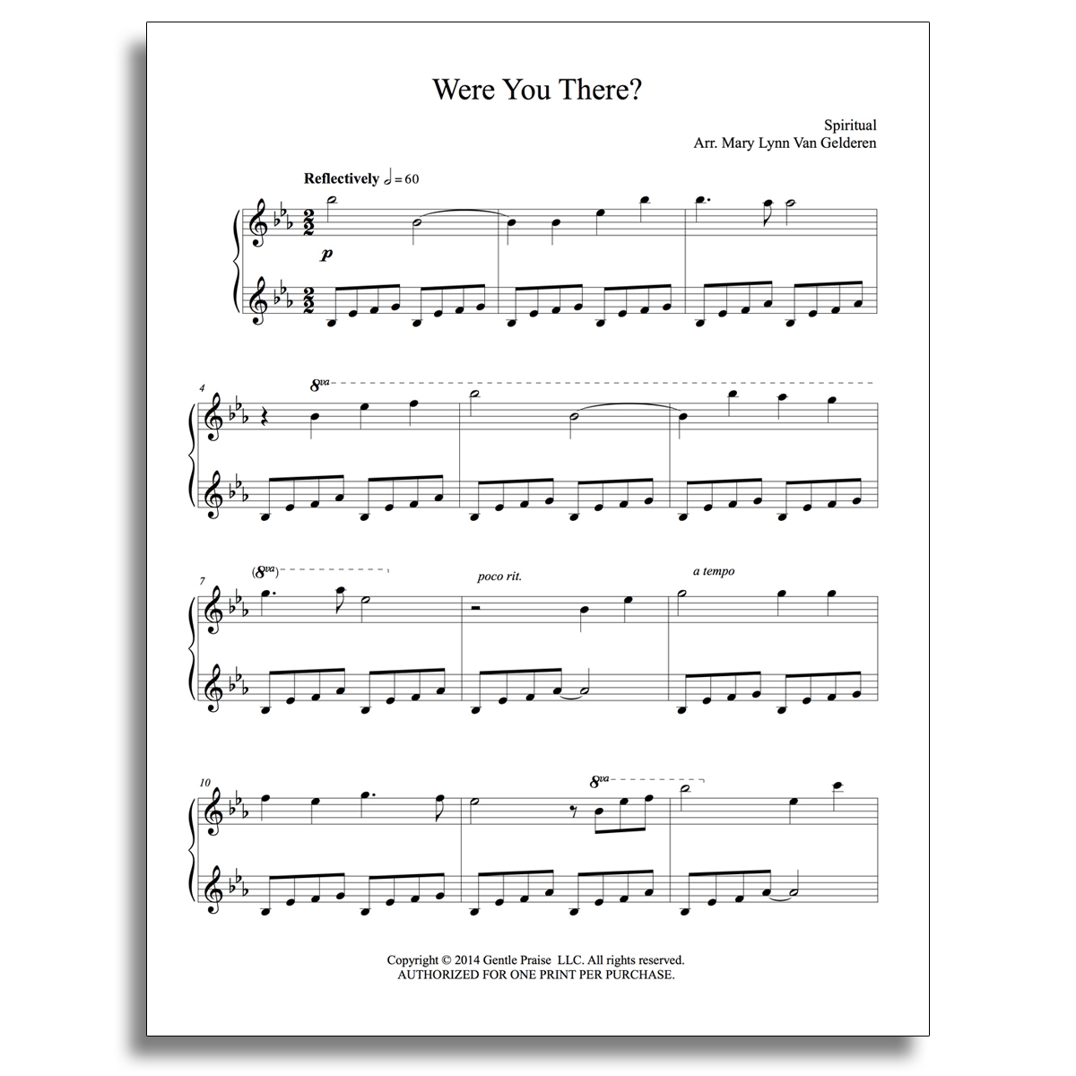 Were You There? Piano Sheet Music